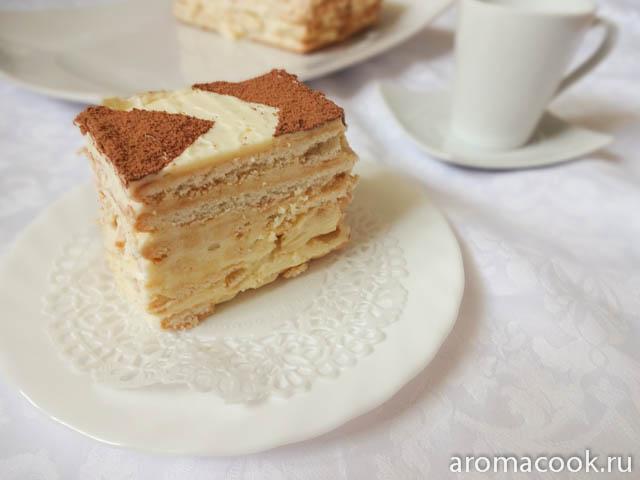 Рецепт быстрого торта из печенья