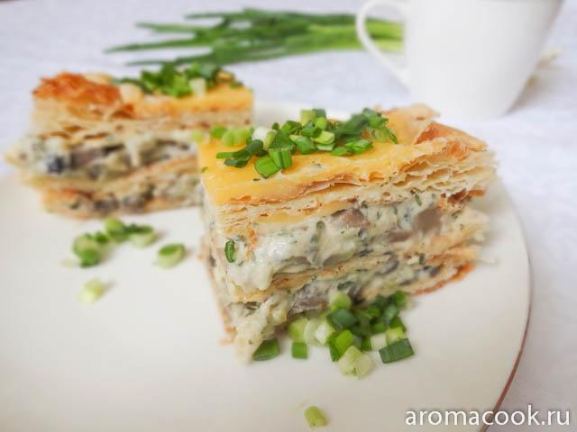закусочный наполеон рецепт с грибами